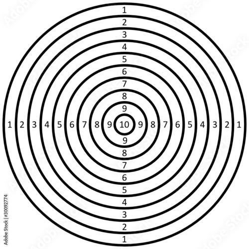 Zielscheiben Schwarz Weiß