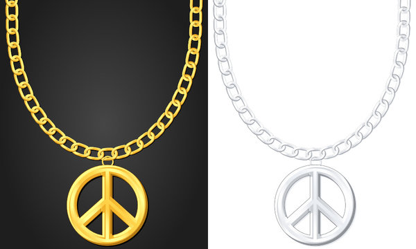 necklace with peace symbol