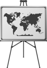 world in easel