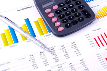 Financial Analysis with charts and data
