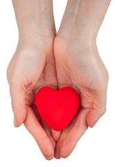 Heart symbol in hands