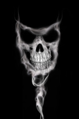 Skull from Smoke