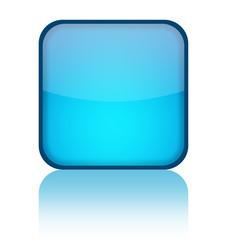Blue blank web button