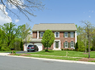 Front Brick Single Family House Suburban MD