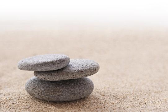 Sable et galets zen