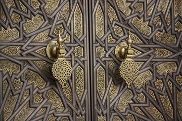 Fotobehang Marokko La porta del palazzo reale di Casablanca - Marocco
