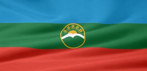 Flagge der russischen Republik Karatschai-Tscherkessien