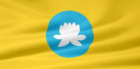 Flagge der russischen Republik Kalmückien