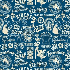 surf elements seamless pattern