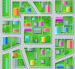 Foto op Plexiglas Op straat Seamless city suburb plan