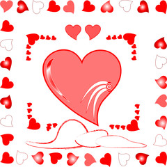 vector love heart greeting card romantic background