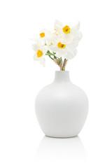 Garden Poster Narcissus White daffodils in vase