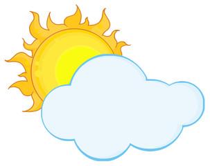Sun Shining Hiding Behind Cloud