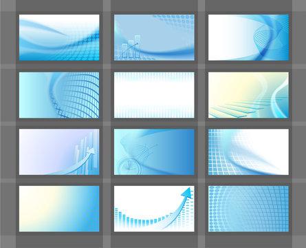 12 business cards set