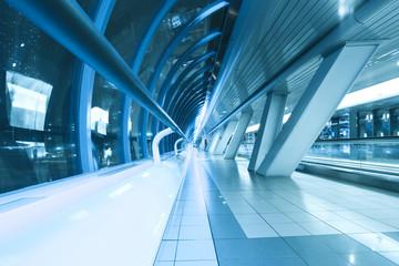 spacious hallway of airport