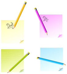 notepads with pencils