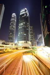 Traffic through downtown of Hong Kong