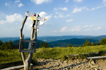 Mountain Trail signpost