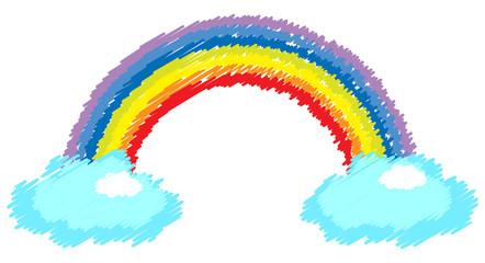 rainbow with cloud