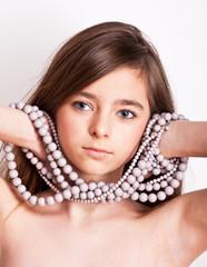 young teenage model in studio