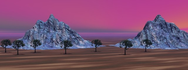 landscape pink