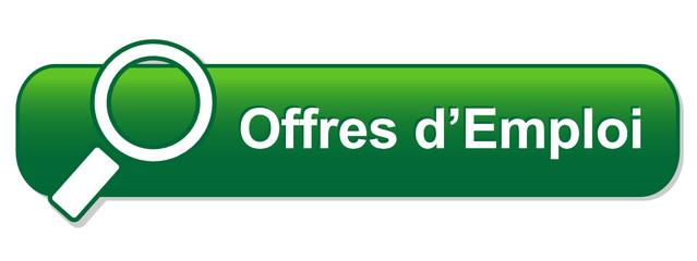 Bouton Web OFFRES D'EMPLOI (recherche candidature carrières job)