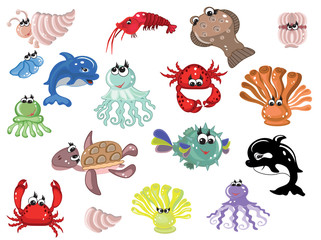 Sea animals,icons