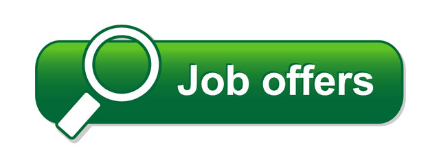 """JOB OFFERS"" Web Button (search find vacancies careers online)"