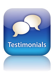 TESTIMONIALS Web Button (customer experience vote satisfaction)