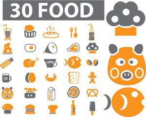 30 food signs