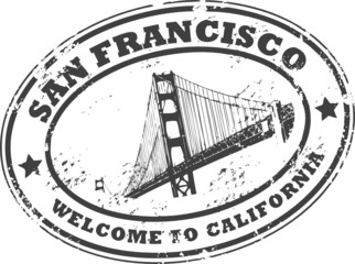 Stamp with bridge and the word San Francisco