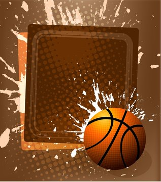 vector background of basketball sport