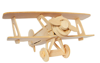 Airplane wooden model
