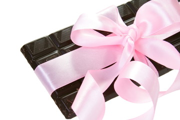 Gift Chocolate Bar with Pink Bow