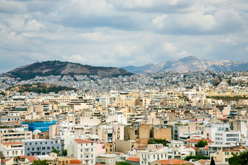 view on Athens, Greece