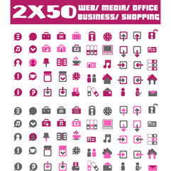 Hundred vector Icons for Web Applications. Web, medical, media,