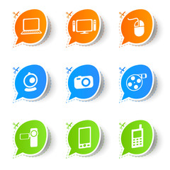 Colorful eco stickers media collection