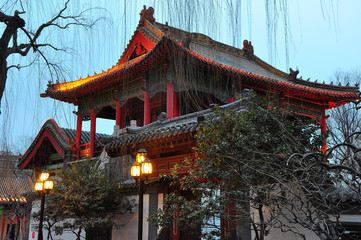 temple in jinan china at night 1