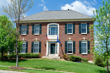Brick Single Family House Home Suburban MD USA