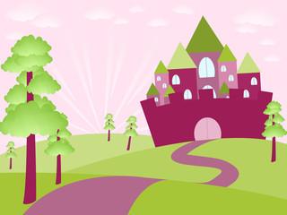 Door stickers Castle Fairy castle