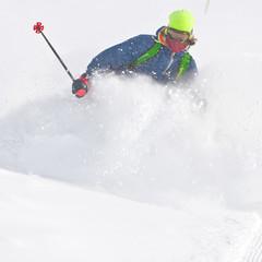 Freerider in a snow powder