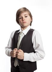 enfant fier fierté gentleman habiller costume