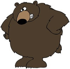 Upset Bear