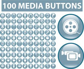 100 media blue buttons