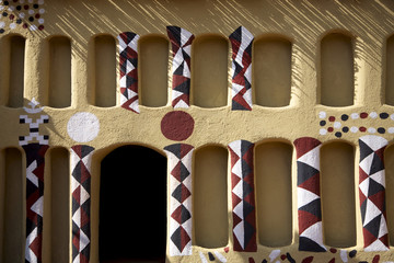 Urban detail of the traditional architecture in Mali