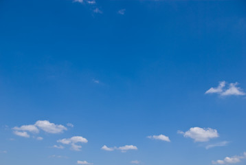 Space on blue sky with a little cloud