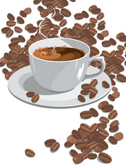 very hot cup of coffee