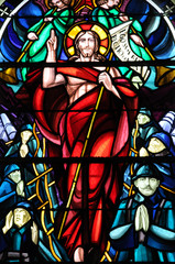 France, vitraux de l'église de Beuvron en Auge