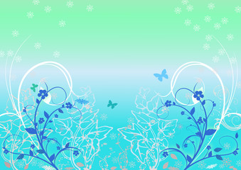 Floral Background,vector image