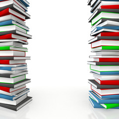 Book piles as copy-space frame for educational / science subject
